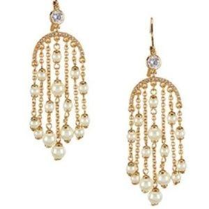 NEW KATE SPADE Pearl Of Wisdom CHANDELIER Earrings